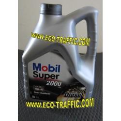 Полусинтетично моторно масло MOBIL SUPER 2000 X1 Diesel 10W40 4Л.