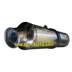 *Универсален Ауспух за Мотори алуминий  с хромникелов накрайник GD042A-S*